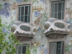 Gebouw van Gaudi in Barcelona